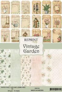 Bilde av Reprint -  A4 - RBP008 - Vintage Garden Collection Pack A4
