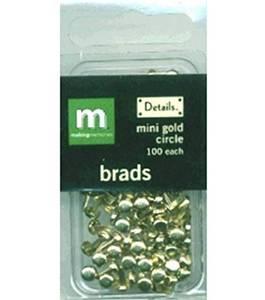 Bilde av Making Memories - Mini Gold Circle Brads