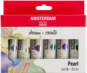 Bilde av Amsterdam - Acrylic Standard - 20ml - Sett  6 ass Pearl
