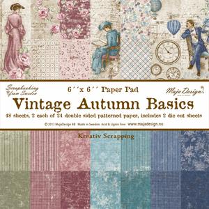 Bilde av Maja Design -  648 - Paper pad 6x6 - Vintage Autumn Basics
