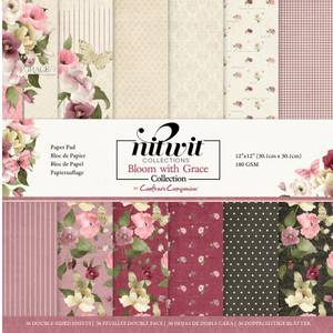 Bilde av Crafter's Companion - Paper Pad 12x12 -Nitwit - Bloom with Grace