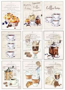 Bilde av Reprint -  A4 Klippeark - KP0051 - Coffee time