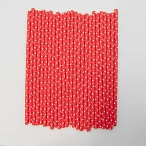 Bilde av Kort & Godt - Sugerør - XG214 - rød-hvit prikker