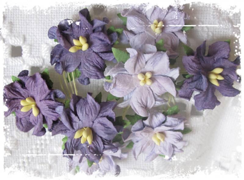 Papirdesign - Gardenia, små - Lys lilla