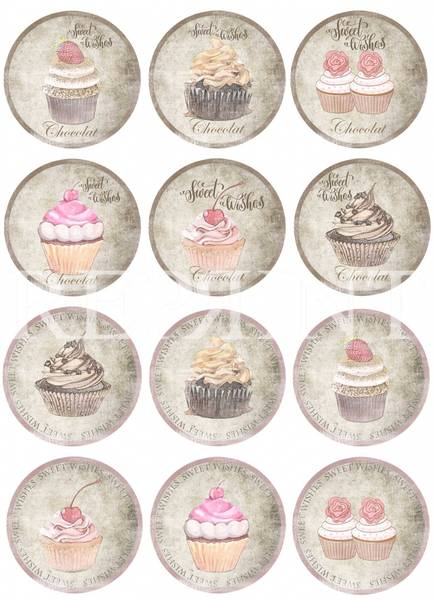 Reprint -  A4 Klippeark - KP0076 - Sweet Wishes