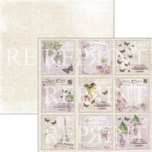 Bilde av Reprint - 12x12 - RP0270 - Lilac Paris Collection - Lilac Tags 1