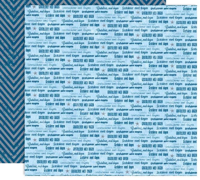 Papirdesign PD14874 - Forventning - Gratulerer, blå