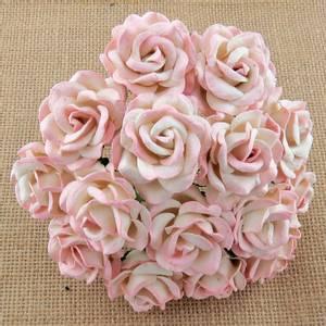 Bilde av Flowers - Chelsea Roses - Saa-226 - 2-Tone Baby Pink/Ivory - 50s