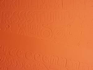 Bilde av Mosegummi - Alfabet & tall - Orange