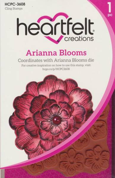 Heartfelt Creations - Arianna Blooms - Cling Rubber Stamp Set