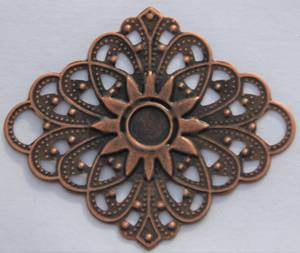Bilde av Metall - Ornament Rombe - Kobber - 7 stk