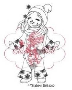 Bilde av Belles 'n Whistles - stamp - Catch-a-flake Snowbaby (NB Gulnet)