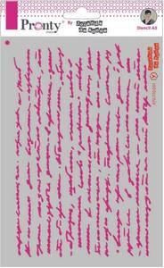 Bilde av Pronty Crafts - Stencil - A5 - Script Text