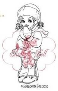 Bilde av Belles 'n Whistles - stamp - Snow Gear Snowbaby (NB Gulnet)