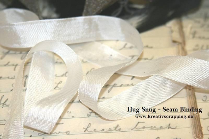 Seam Binding - Hug Snug - Ribbon - Winter White - Pr meter
