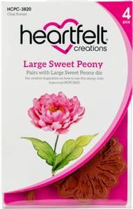 Bilde av Heartfelt Creations - Sweet Peony Large - Cling Rubber Stamp Set