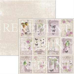 Bilde av Reprint - 12x12 - RP0276 - Lilac Paris Collection - Lilac Tags 2