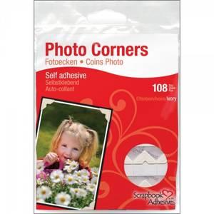 Bilde av Scrapbook Adhesives - Photo Corners Self-Adhesive - Ivory