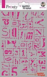 Bilde av Pronty Crafts - Stencil - A5 - Letters Grunge