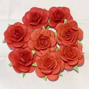 Bilde av Papirdesign - Roser - 3,5cm - Rød