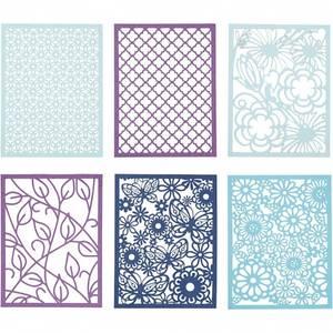 Bilde av CCH - Cardboard Lace Patterns - A6 - blå og lilla