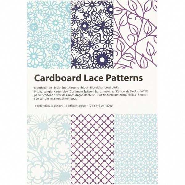 CCH - Cardboard Lace Patterns - A6 - blå og lilla