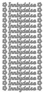 Bilde av Klistremerker - 0064 - Outline stickers - Innbydelse 10mm - Sølv