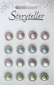 Bilde av Storyteller - Brads - Medaljong - Sølv med pastell perler