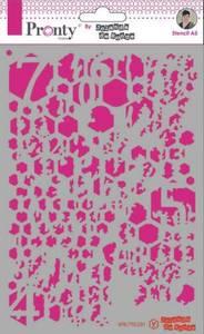 Bilde av Pronty Crafts - Stencil - A5 - Honey Comb