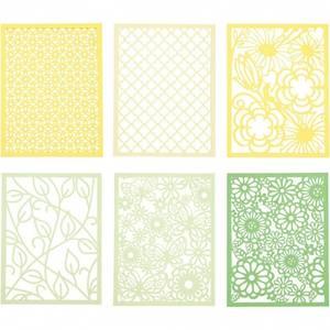 Bilde av CCH - Cardboard Lace Patterns - A6 - grønn og gul
