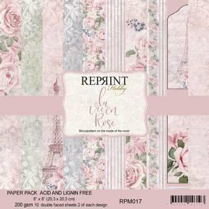 Bilde av Reprint - 8x8 - RPM017 - La Vie en Rose Collection pack