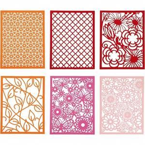 Bilde av CCH - Cardboard Lace Patterns - A6 - orange, rosa, rød