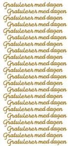 Bilde av Klistremerker - 0307 - Outline sticker - Gratulerer m dagen gull
