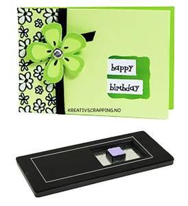 Bilde av Sizzix - Bigz Die - 654782 - XL die - CARD 3 - HORIZONTAL NOTE,