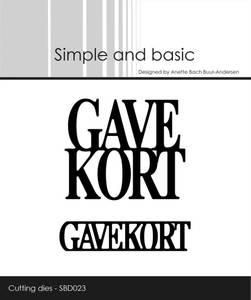 Bilde av Simple and basic - Dies - SBD023 - Gavekort