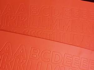 Bilde av Mosegummi - Alfabet & tall - Rød Orange NB: kun store bokstaver
