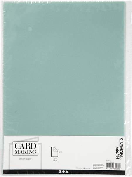 CC - Vellum - 100g - A4 - 10stk - Lys Blå