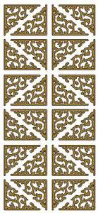 Bilde av Klistremerker - 0085 - Outline stickers - Klassiske hjørner Gull