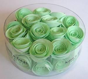 Bilde av Kort & Godt - Blomst snurret S - Lys grønn - 2596