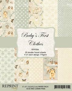 Bilde av Reprint - 6x6 - RPP054 - Baby´s First Clothes Collection pack