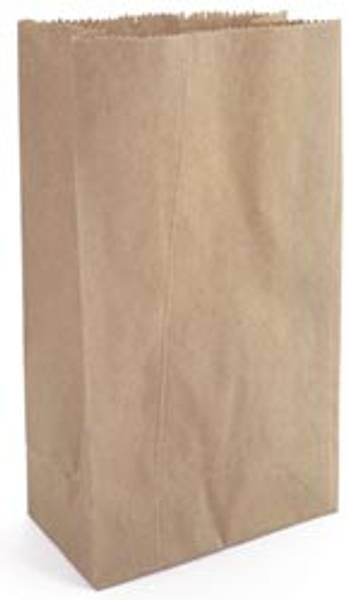 Papirpose med bunn - Kraft - 4,625