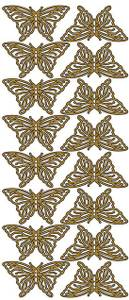Bilde av Klistremerker - 0108 - Outline stickers - Somerfugl - Gull