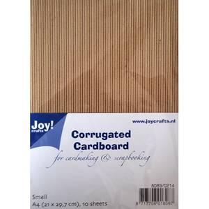 Bilde av Joy Crafts - Kraft corrugated cardboard small - A4 pk - 10stk