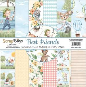 Bilde av ScrapBoys - Best Friends - 6x6 - Paper pad