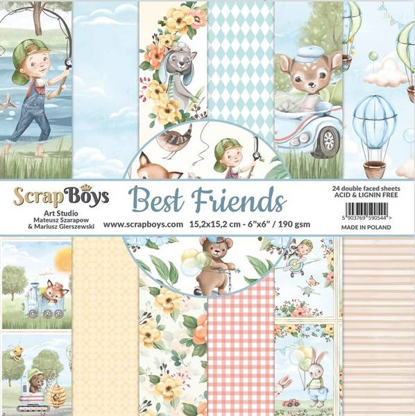 ScrapBoys - Best Friends - 6x6 - Paper pad