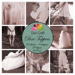 Bilde av  Dixi Craft - Dixi toppers - ETL024 -  Girls Brown