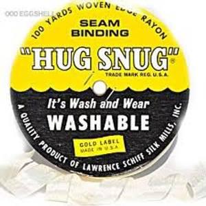 Bilde av  Seam Binding - Hug Snug - Ribbon - Chalk White - Metervare