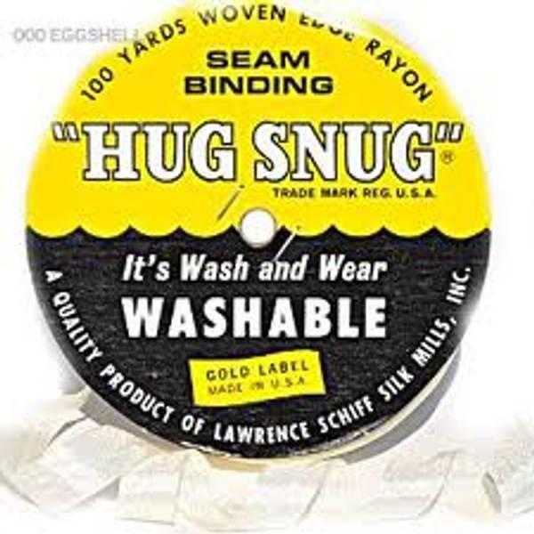 Seam Binding - Hug Snug Ribbon - White - Hel Rull