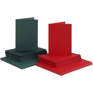 Bilde av CCH - Kort og konvolutter 10,5x15 - 50 stk - Grønn, rød