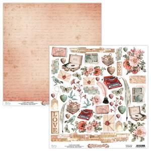 Bilde av Mintay - LET - 12x12 - Love Letters - 09 Die Cut Sheet